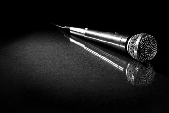 image of a microphone and a reflection