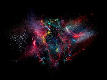 high speed photography of ink color explosion