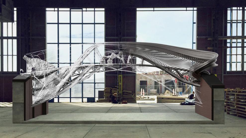 Un puente de acero impreso en 3D